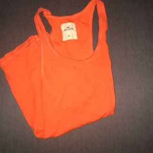 Orange Hollister tank top